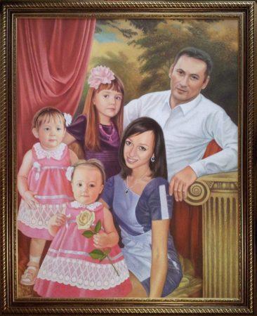 Семейный портрет маслом в Белгороде — правильная традиция…