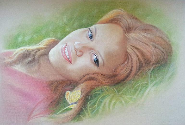 Настоящий портрет пастелью для любимой девушки в Белгороде, просто и со вкусом!