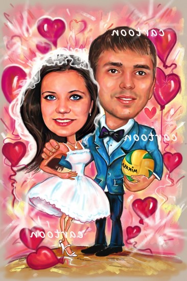 Свадебный шарж с оригинальным сюжетом в Белгороде!