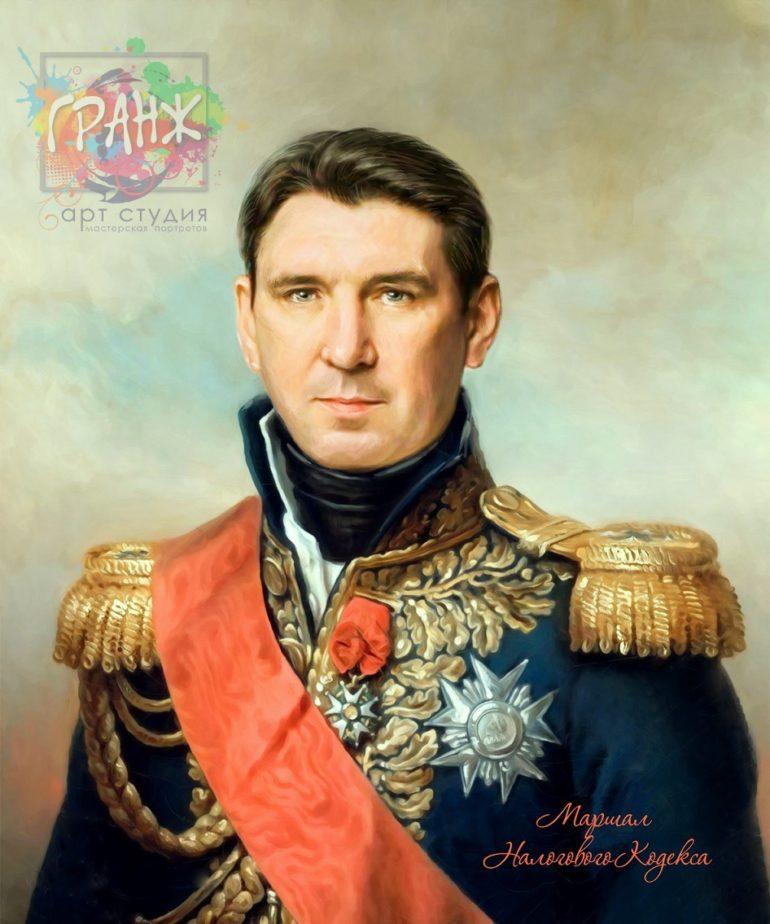 Портрет по фото на холсте в подарок мужчине на 23 февраля Белгород