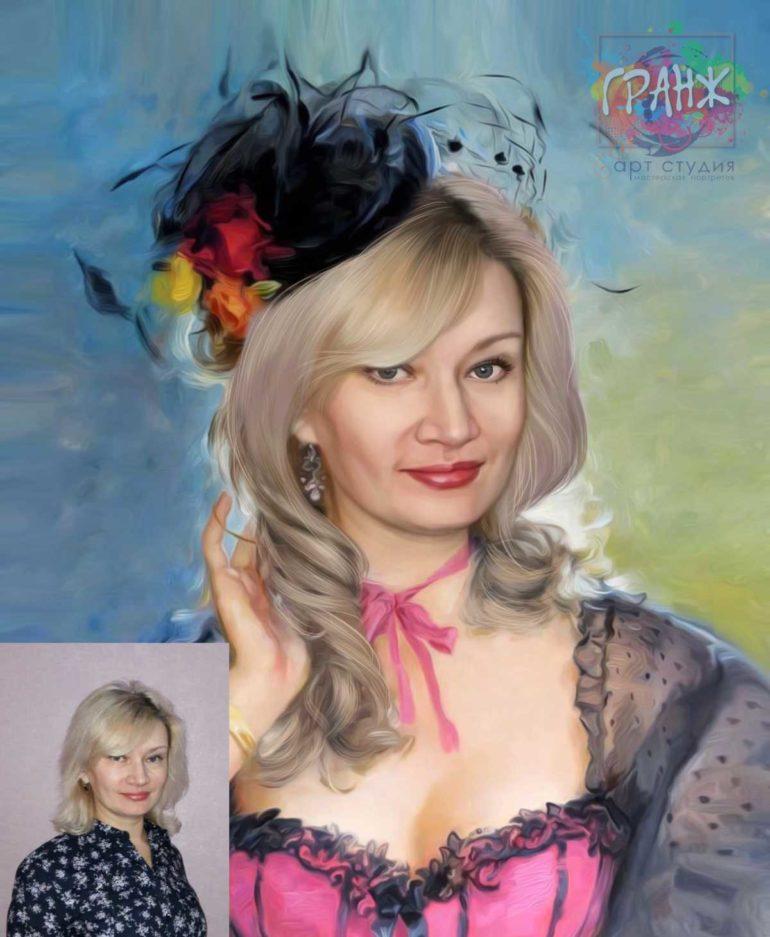 Заказать арт портрет по фото на холсте в Белгороде